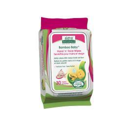 Aleva naturals 37961 bamboo hand n face wipes 30ct