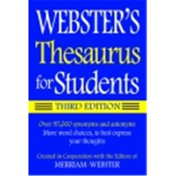 Websters Thesaurus Book For Students 3Rd Edition Paper Back