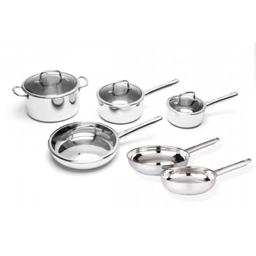 BergHOFF 2211349 Boreal Stainless Steel Cookware Set - 10 Pieces