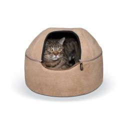 K&H Pet Products 3895 Tan K&H Pet Products Kitty Dome Bed Unheated Small Tan 16 X 16 X 12