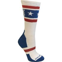 Browning a000285810104 bg unisex america red white & blue socks large calf height