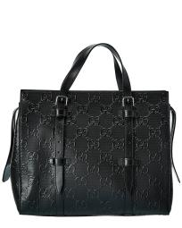 Gucci GG Embossed Leather Tote