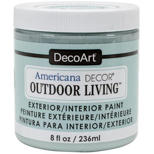 Americana Decor Outdoor Living Paint 8oz Frosted Glass
