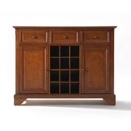 Crosley LaFayette Buffet Server / Sideboard Cabinet with Wine Storage in Classic Cherry Finish