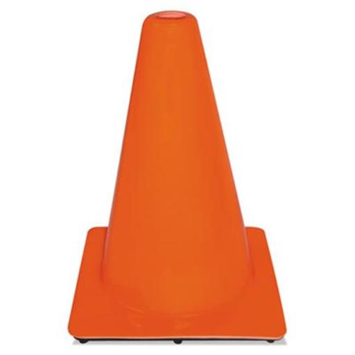 Commercial Tape Div Non-Reflective Traffic Safety Cone - Orange, 9 x 9 x 12 in.