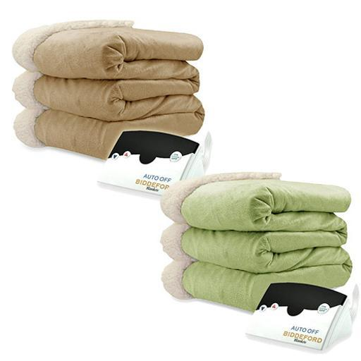 Biddeford Micro Mink and Sherpa Electric Heated Blanket Assorted Sizes Colors AQ451QUZS0CZVV4J
