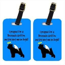 Carolines Treasures AN1096BT Brussels Griffon Luggage Tags, Pair - 2