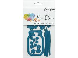 Cttkn012d contact crafts koliver die jar with flowers stems