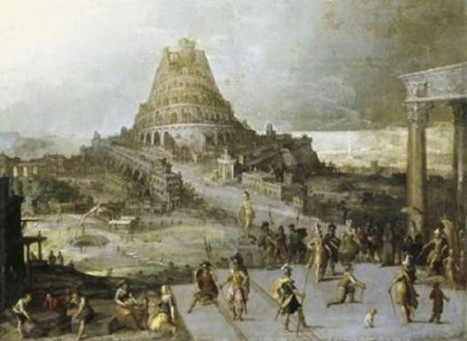 Nimrod Ordering the Construction of the Tower of Babel Poster Print by Hendrick III Van Cleve 2YQYCUN7UR1TDHUQ