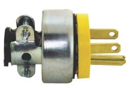 Cooper Wiring 2867-box Vinyl Armored Shell Grounded Plug, 15 Amp