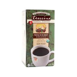 Teeccino French Roast Herbal Coffee - Dark Roast, 10 Tea Bags, Case Of 6