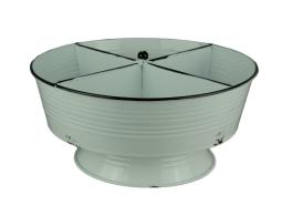 Rustic White Metal 4 Section Round Divided Tray