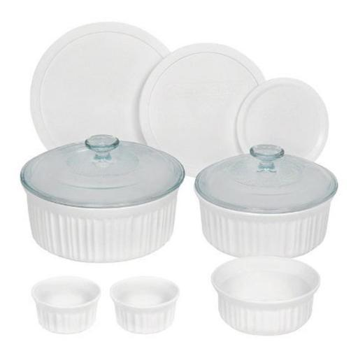 1117223 French White Casserole & Bakeware Set 10 Piece