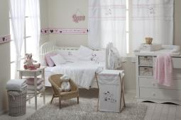 [White Pink My Friends] 4 Pc Crib Bedding Set Crib Bedding Collection
