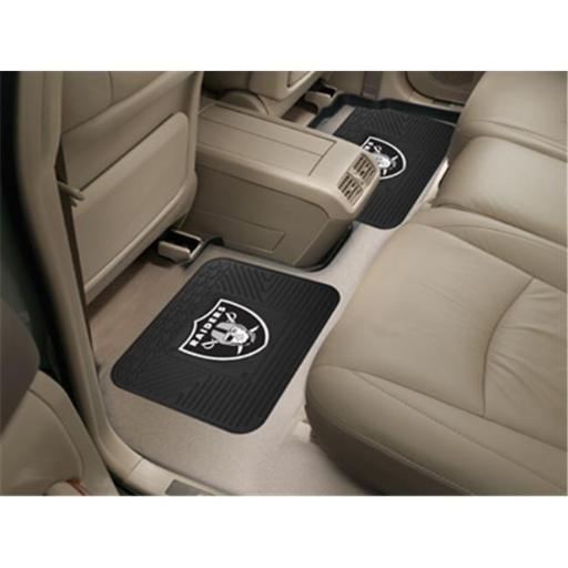 Fanmats 12318 NFL - 14 in. x17 in. - NFL - Oakland Raiders Backseat Utility Mats 2 Pack