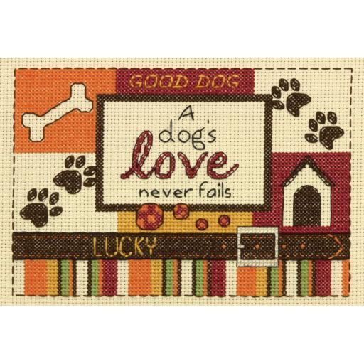 "A Dog's Love Mini Counted Cross Stitch Kit-5""X7"" 14 Count 0OUIEB9HJPO0JT51"