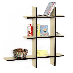 Champagne Party-ALeather Cross Type Shelf / Bookshelf / Floating Shelf (5 pcs)