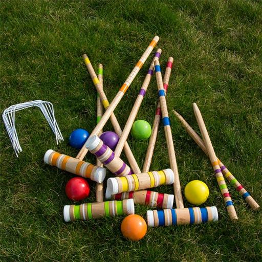 Hey Play M420013 Complete Croquet Set with Carrying Case