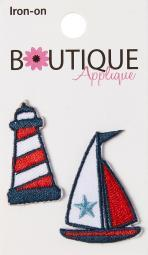 Iron-on Appliques-lighthouse & Boat 2/pkg