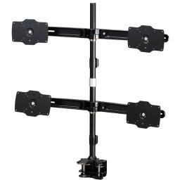 Amer networks amr4c32 quad monitor clamp mount 32in