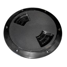 """Sea dog abs deck plate black textured 8"""" quarter turn to"""