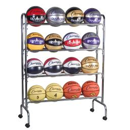 Champion sports portable ball rack 4 tier holds 16 brc4