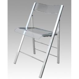 Alston Quality 1530-Clear New Lucite Folding Chair Frame