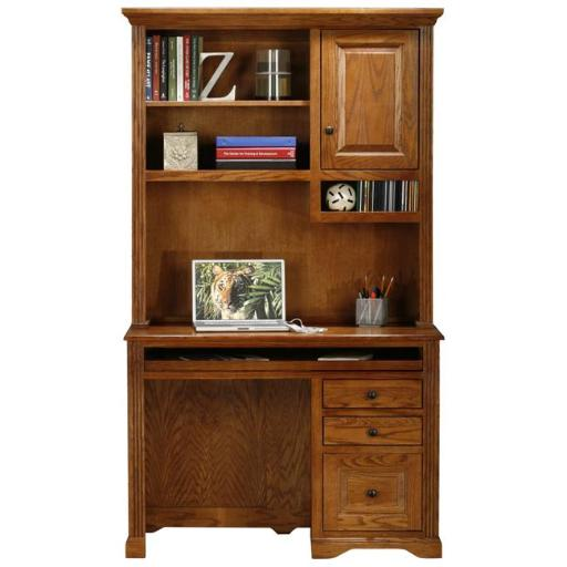 Eagle Furniture 93102NGDK Oak Ridge Single-Pedestal Desk, Dark Oak