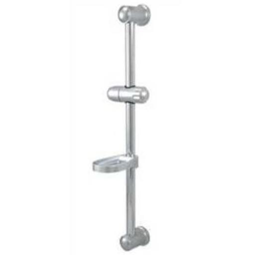 24 in. Glide Bar with Acrylic Soap Dish and Hand Held Shower Satin Nickel