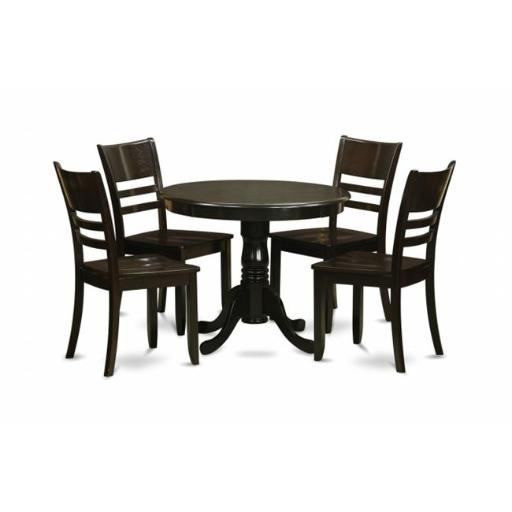5 Piece Kitchen Table Set-Kitchen Dining Nook and 4 Dining Room Chairs