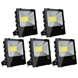 DELight ®5 Pack 150W LED Flood Light Outdoor Security Lamp 450 Watt Equivalent