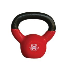 Fabrication Enterprises 10-3192 7.5 lbs Cando Vinyl Coated Kettlebell - Red
