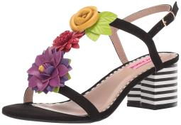 Betsey Johnson Womens Adde Fabric Open Toe Casual Slingback Sandals
