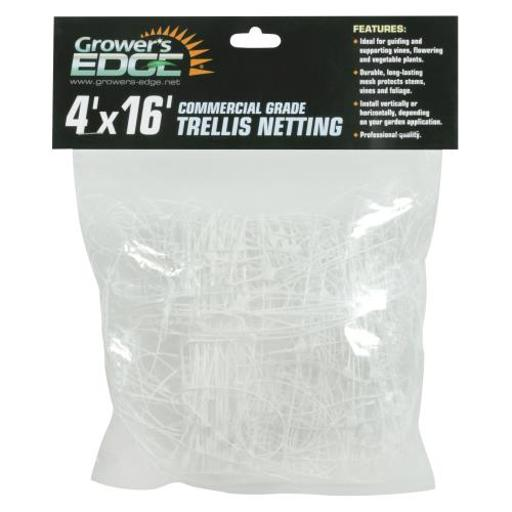 Grower's Edge Commercial Grade Trellis Netting Grower's Edge Commercial Grade Trellis Netting 4 ft x 16 ft (20/Cs)