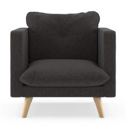 NyeKoncept 50180485 Pebble Weave Jace Armchair, Heathered Slate & Natural