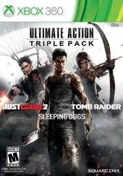 Ultimate action triple pk (3 discs) just cause2/tomb raider/sleeping dogs SQE 91619