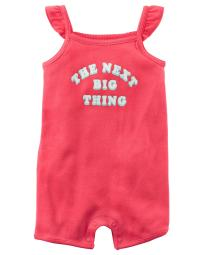 Carter's Baby Girls' The Next Big Thing Romper, 3 Months