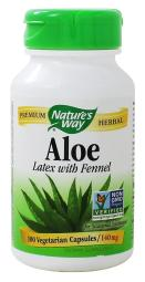 Nature's Way Aloe - Latex with Fennel - 100 Vegetarian Capsules