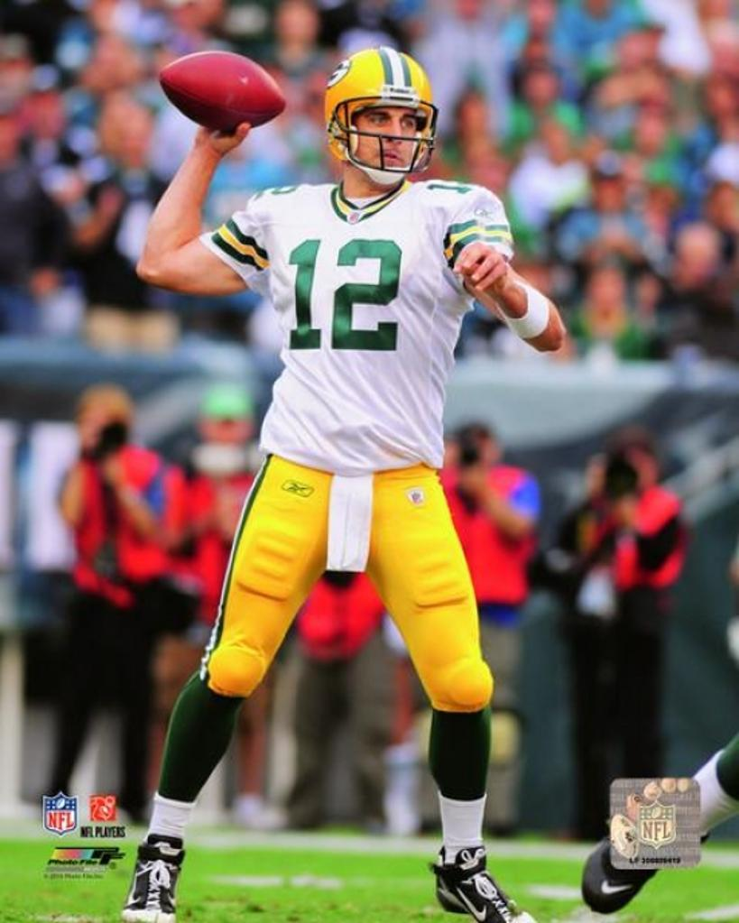 Aaron Rodgers 2010 Action Photo Print