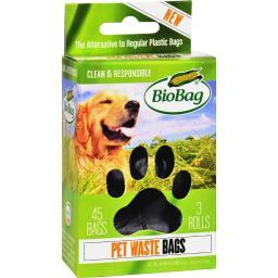 Biobag Dog Waste Bags On A Roll - Case Of 12 - 45 Count