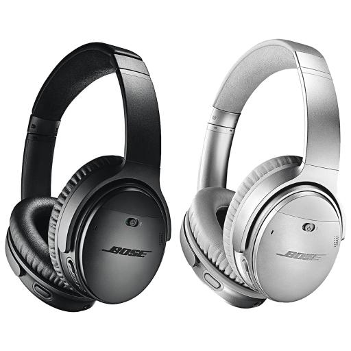 Bose QuietComfort 35 Series II Over-Ear Wireless Bluetooth Noise Cancelling Headphones with Microphone (Black / Silver)