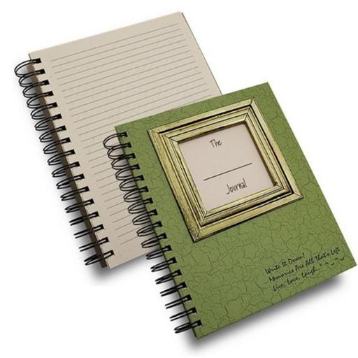 Journals Unlimited CJ-18 The Blank Journal Book, Avocado Green