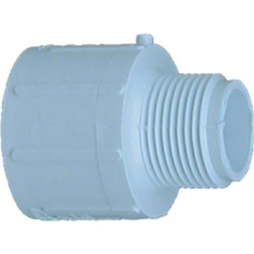 Genova Products 30441 1 Slip x 1.25 in. MIP Pressure PVC Reducing Male Adapter, White
