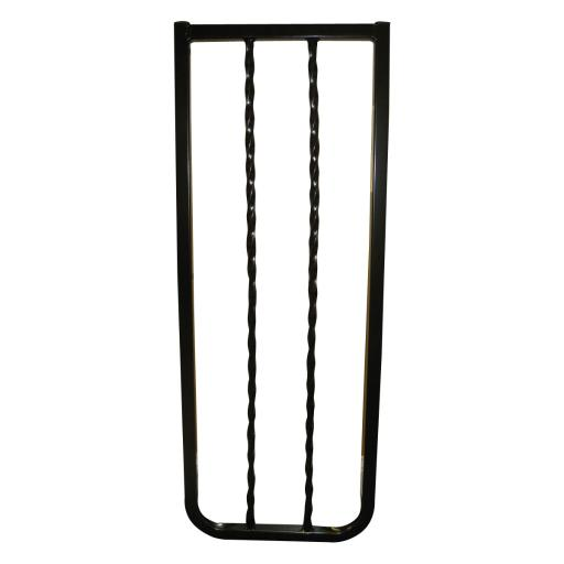 Cardinal Gates Wi30-Bk Black Cardinal Gates Wrought Iron Decor Hardware Mounted Pet Gate Black 27 - 42.5 X 1.5 X 29