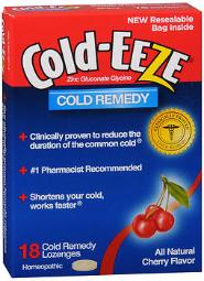 Cold-eeze Lozenges All Natural Cherry Flavor - 18 Ct., Pack Of 3