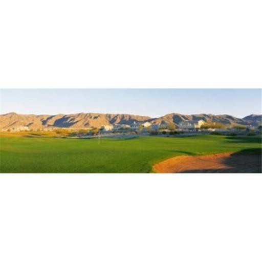 Panoramic Images PPI44332L Golf flag in a golf course Phoenix Arizona USA Poster Print by Panoramic Images - 36 x 12