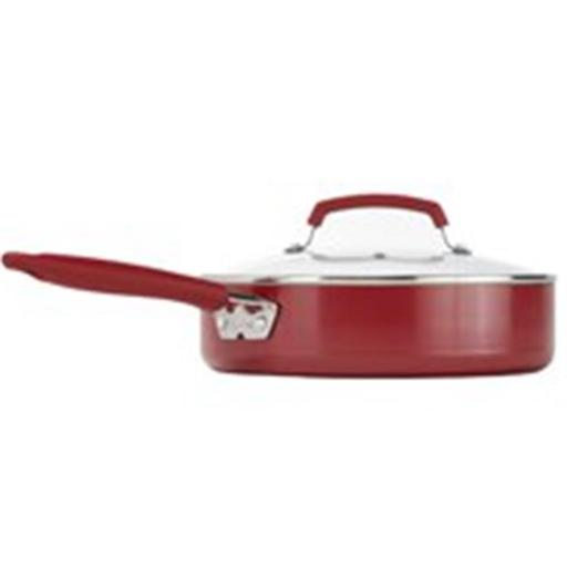 T-Fal Corporation 5203047 Cookware Covered Skillet Cer 3.5Qt