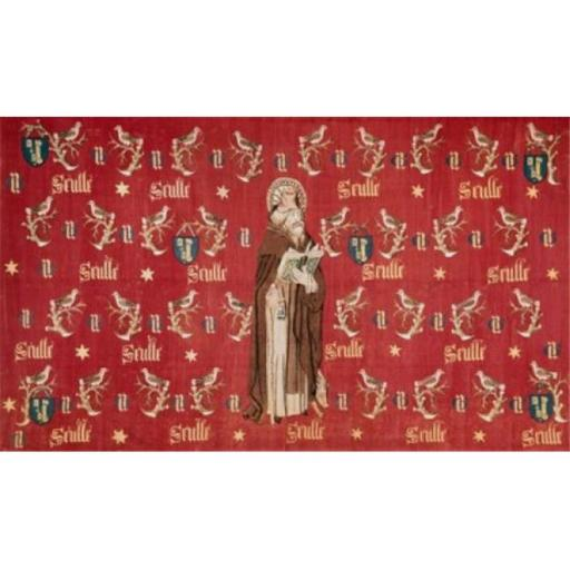 Posterazzi SAL2621999 Saint Anthony-Armorial Hanging of the Chancellor C. 1450 Tapestry Textiles Flemish Wool Poster Print - 18 x 24 in.