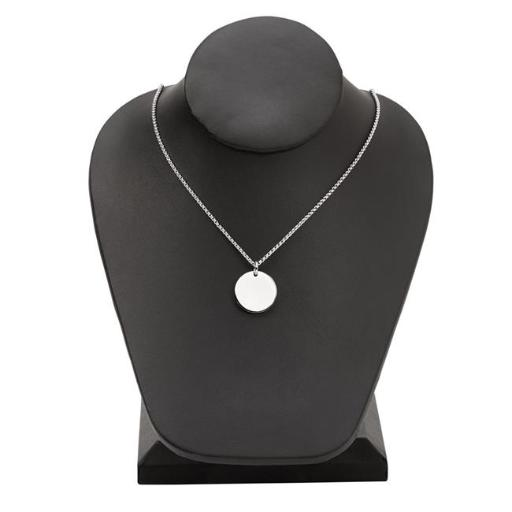 Creative Gifts 002456 Round 0.75 in. Stainless Steel Disk Necklace with 18 in. Chain