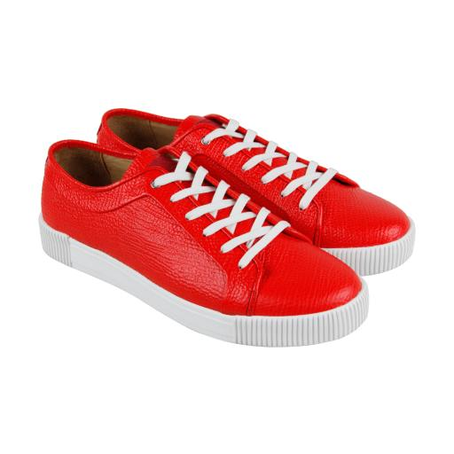 f3db1c52b837 Michael Bastian Michael Bastian Lyons Low Top Mens Red Leather Lace Up Sneakers  Shoes